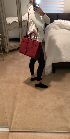 Saint Laurent Tote in red Image 6