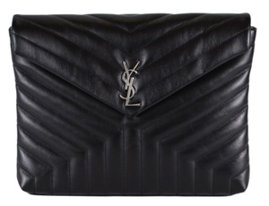 Saint Laurent Loulou Lou Lou Ysl Ysl Purse Black Clutch