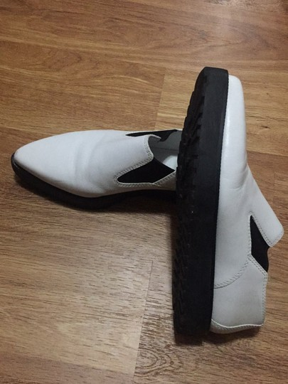 Alexander Wang White and Black Leather Boots Image 1
