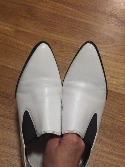 Alexander Wang White and Black Leather Boots Image 4