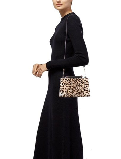 Gucci Leopard Print Handbag Leather Web Stripe Strap Shoulder Bag Image 1