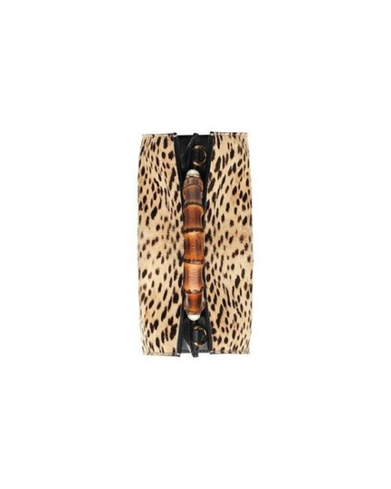 Gucci Leopard Print Handbag Leather Web Stripe Strap Shoulder Bag Image 5