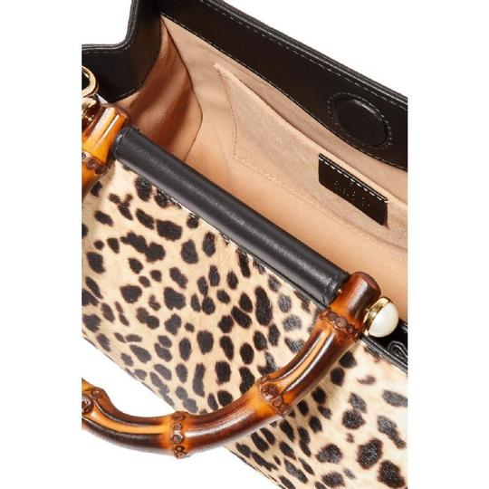 Gucci Leopard Print Handbag Leather Web Stripe Strap Shoulder Bag Image 7