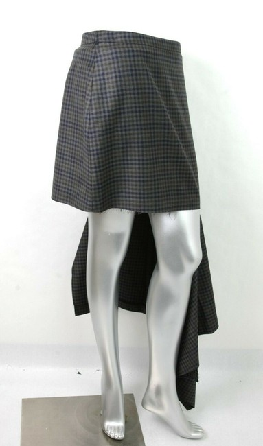 Balenciaga Women's Checkered Asymmetrical Skirt Grey Image 3