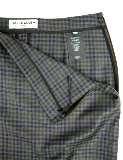 Balenciaga Women's Checkered Asymmetrical Skirt Grey Image 9