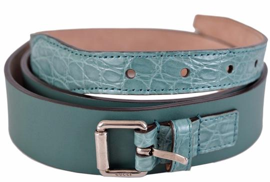 Preload https://img-static.tradesy.com/item/25301635/gucci-teal-new-men-s-green-alligator-and-leather-buckle-38-95-belt-0-0-540-540.jpg