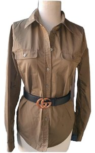 Elizabeth and James Button Down Shirt Military Green