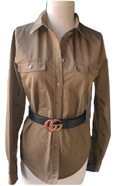 Preload https://img-static.tradesy.com/item/25301638/elizabeth-and-james-military-green-bonfire-button-down-top-size-2-xs-0-1-650-650.jpg