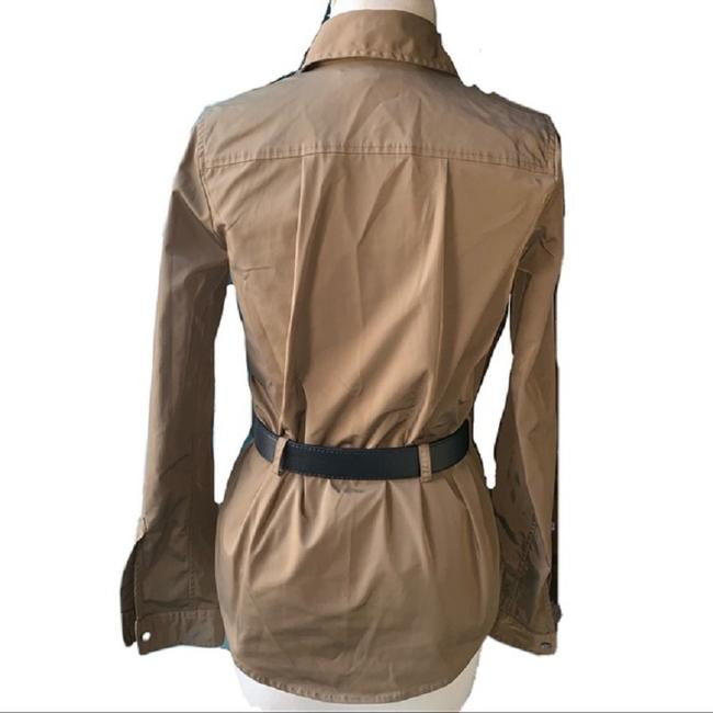 Elizabeth and James Button Down Shirt Military Green Image 2