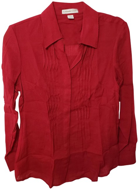 Preload https://img-static.tradesy.com/item/25301655/coldwater-creek-deep-red-tunic-size-6-s-0-3-650-650.jpg