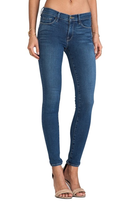 FRAME Skinny Jeans-Medium Wash Image 1