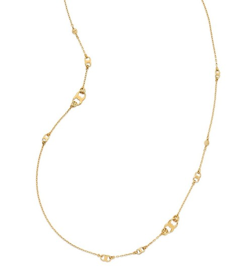 Tory Burch New Tory Burch Gemini Link Convertible Necklace (Wrappable) 16k Gold Image 1
