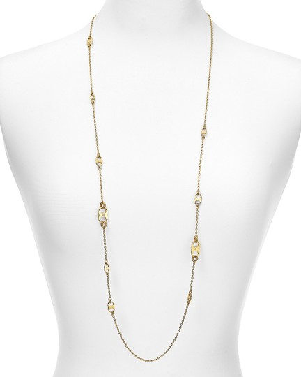Tory Burch New Tory Burch Gemini Link Convertible Necklace (Wrappable) 16k Gold Image 2