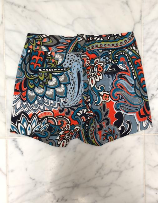 J.Crew Moonglow Paisley Dress Shorts Blue Image 1