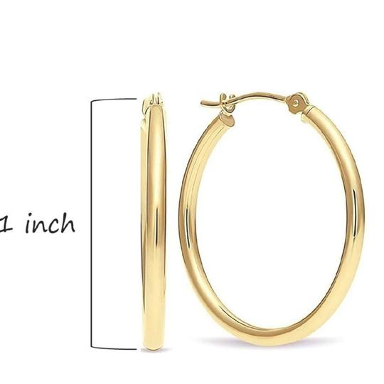 Other CLASSIC ROUND TUBE HOOP EARRINGS Image 1
