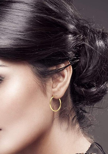 Other CLASSIC ROUND TUBE HOOP EARRINGS Image 3