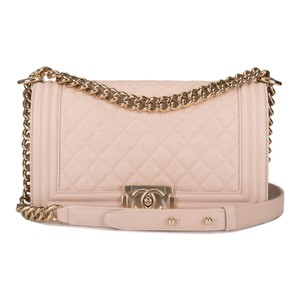 cdbad8fa861d Added to Shopping Bag. Chanel Shoulder Bag. Chanel Boy Nude Quilted Caviar  Medium Beige Leather ...
