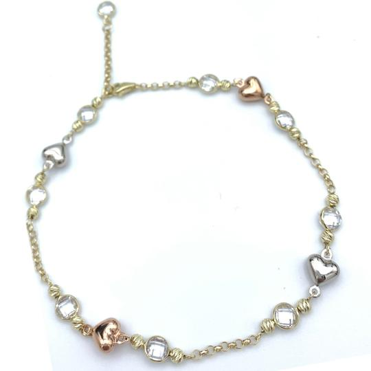 Other (852) 14k yellow gold anklet Image 4