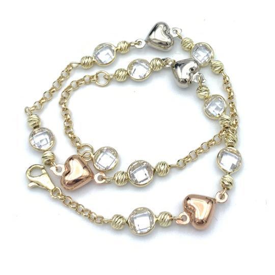 Other (852) 14k yellow gold anklet Image 5
