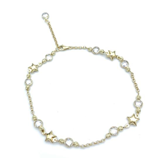 other (853) 14k yellow gold anklet Image 3