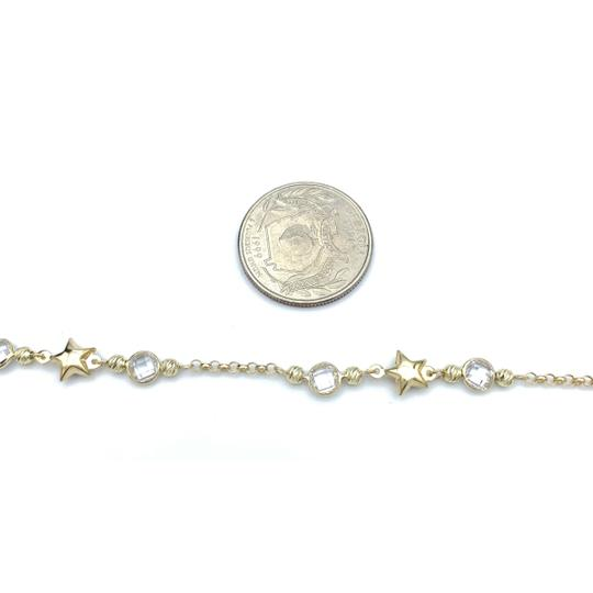 other (853) 14k yellow gold anklet Image 4