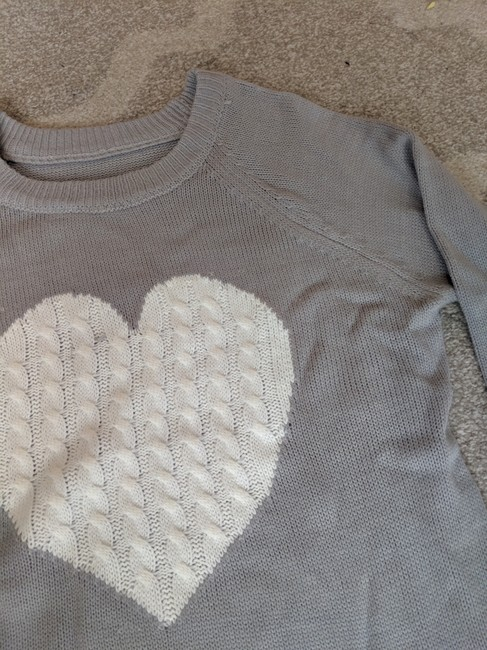 SheIn Love Richie Heart Sweater Image 2