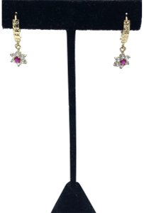 Other (856) 14k yellow gold flower earrings