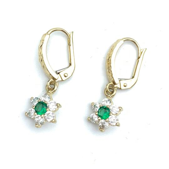 Other (856) 14k yellow gold flower earrings Image 2