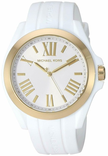 Preload https://img-static.tradesy.com/item/25301848/michael-kors-whitegold-women-s-bradshaw-gold-tone-and-silicone-mk2730-watch-0-2-540-540.jpg