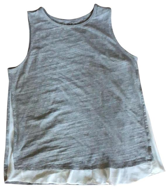 Item - Gray with White Sleeveless Modern Tunic Size 12 (L)