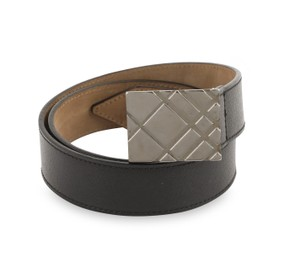 Burberry Saffiano Leather Check Embossed