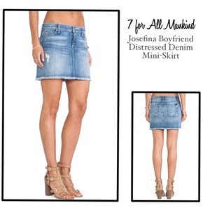 7 For All Mankind Mini Skirt Distressed