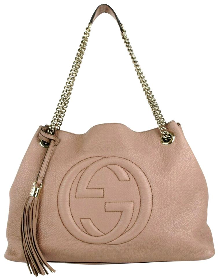 b668f0380616 Gucci Soho Medium Chain Pink Leather Shoulder Bag - Tradesy