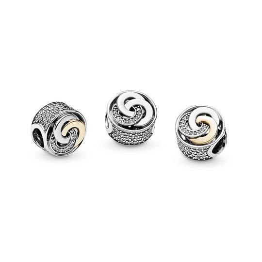 PANDORA Interlinked Circles Charm, Clear CZ Image 1