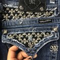 Miss Me Blue Distressed Womens Bling Hip Hop Style# Jp5002b53 Measure 34x31 Boot Cut Jeans Size 34 (12, L) Miss Me Blue Distressed Womens Bling Hip Hop Style# Jp5002b53 Measure 34x31 Boot Cut Jeans Size 34 (12, L) Image 6