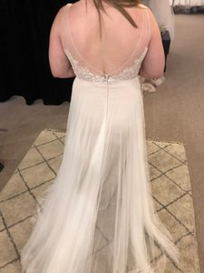b026787ab6f Wtoo Ivory Champagne Tulle Persiphone Casual Wedding Dress Size 12 (L)