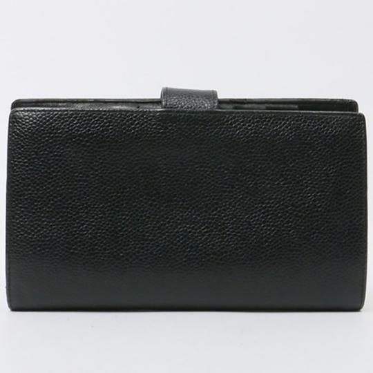 Chanel Authentic CHANEL Caviar Timeless CC French Wallet Black Image 1