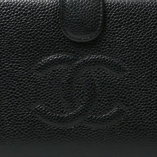 Chanel Authentic CHANEL Caviar Timeless CC French Wallet Black Image 5
