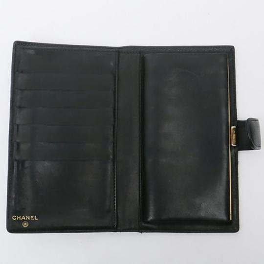 Chanel Authentic CHANEL Caviar Timeless CC French Wallet Black Image 6