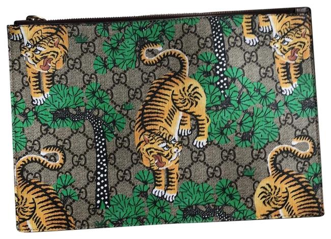 Item - T.gg Sup Bengal Pouch Multi Colored Leather Clutch