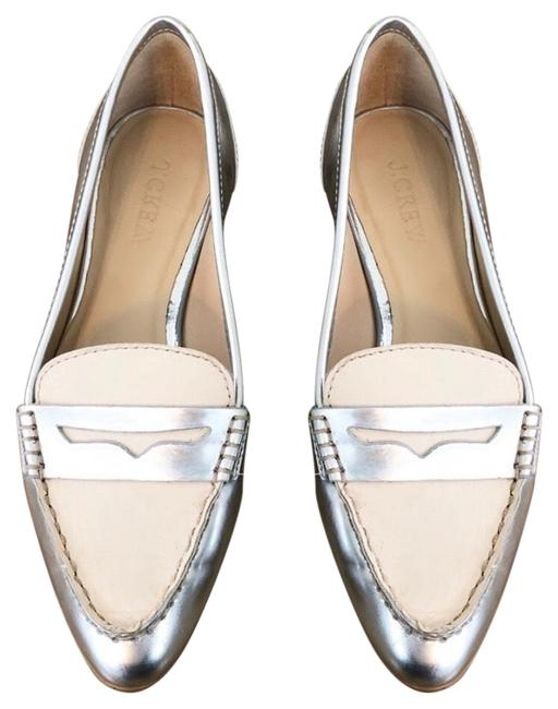 Item - Silver and Tan Collins Mixed Metallic Loafers Flats Size US 5 Regular (M, B)
