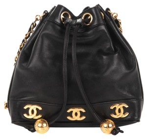 baddc1436aab Chanel Vintage Bucket Caviar Leather Shoulder Bag