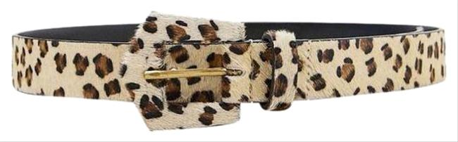 Item - Leopard Taupe Brown New Animal Print Leather Belt