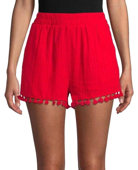 Item - Red Pinstriped Pom-pom S Shorts Size 6 (S, 28)