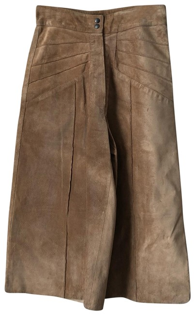Item - Brown Crop Leather Pants Size 4 (S, 27)
