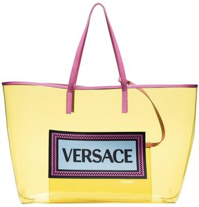 Versace Rockstud Studded Classic Quilted Fanny Tote in Yellow