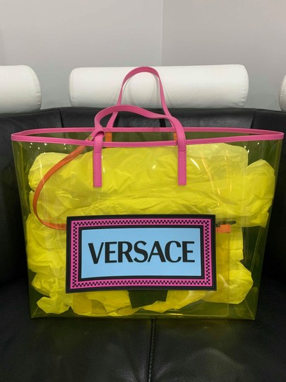 Versace Rockstud Studded Classic Quilted Fanny Tote in Yellow Image 1
