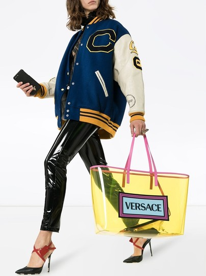Versace Rockstud Studded Classic Quilted Fanny Tote in Yellow Image 2