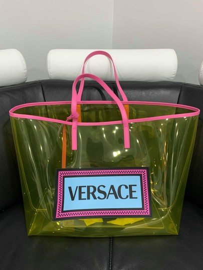 Versace Rockstud Studded Classic Quilted Fanny Tote in Yellow Image 3