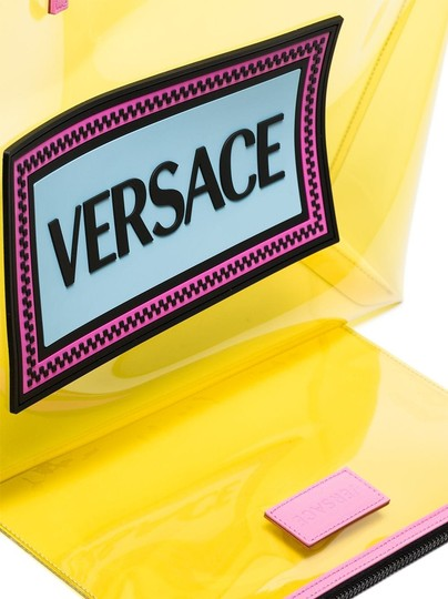 Versace Rockstud Studded Classic Quilted Fanny Tote in Yellow Image 6